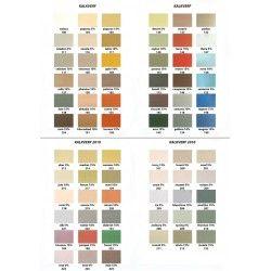 Stoopen en Meeus kleurenkaart KALK KLEUREN MP100 t/m MP149, handgeschilderd